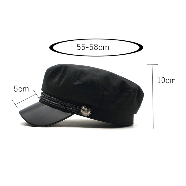 2019 New High Quality Casual Military Cap Man Woman Cotton Beret Flat Hats Captain Cap Trucker Vintage Black Sport Dad Bone Male 1