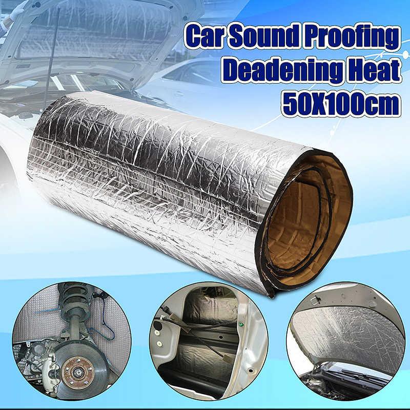 Accessoires nouveau 100x50cm isolation acoustique mousse voiture insonorisé mousse isolation tapis 20mm 1 Pack en argent pour pièces de voiture