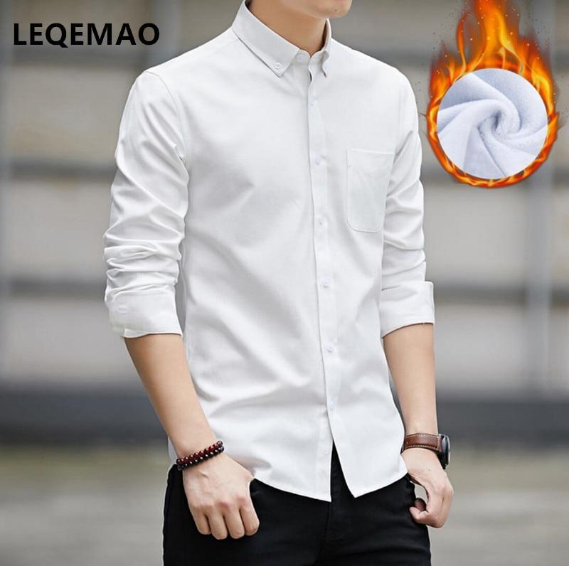 2019 NEW Men's Slim Shirt Men's Black And White Shirt Maa1 Men's Long Sleeve Slim Solid Color Shirt W093-05