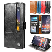 For Nokia 7.2 Case Matte Leather Wallet Protective Flip Stand Shockproof Armor Cover For Nokia 7.2 Case Card Slot