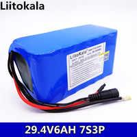 HK LiitoKala 24 V 6Ah 7S3P 18650 Batterie 29,4 V 6000 mAh Lithium-Ionen Für Die Elektrische Fahrrad