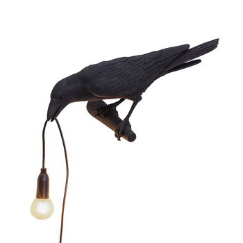 E12 Indoor LED Wall Lamp Romantic Post-modern Nordic Style Lucky Bird Resin Bedside For Bedroom Living Room Home Decor