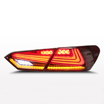 Taillights 4pcs  Car Styling for 2018 Camry LED Tail Lamp Rear Lamp DRL+Dynamic Turn Signal+Brake+Reverse taillight
