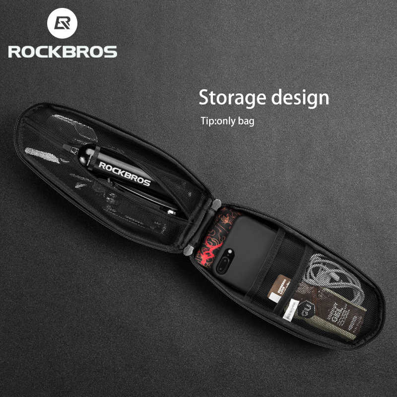 ROCKBROS-Bolso impermeable para bicicleta de montaña, plegable para carretera, de 1,5 l, gran capacidad