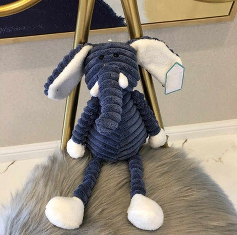 1pcs חמוד Torest בעלי החיים קטיפה צעצוע פס תינוק פיל האריה שועל ארנב חזיר רך ממולא צעצועים