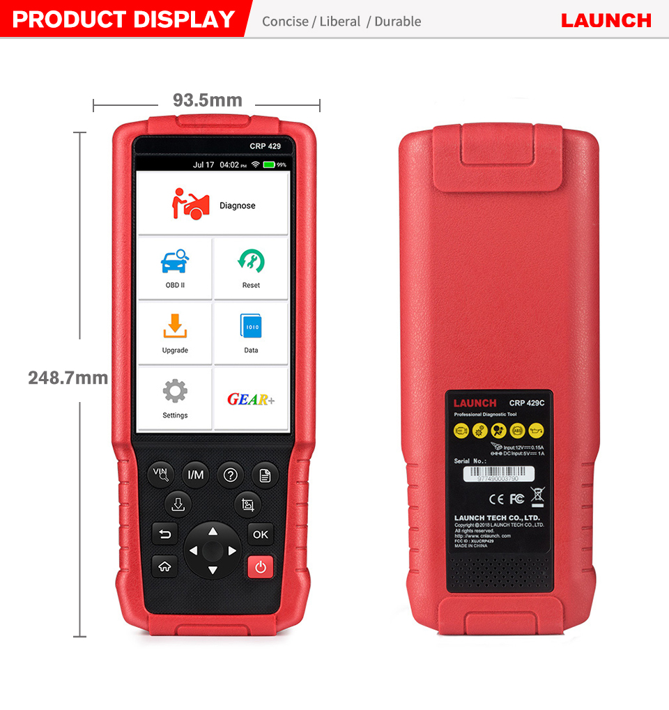 Image 5 - Launch X431 CRP429 OBD2 Scanner OBD Diagnostic Scan Tool Auto Code Reader All System Diagnoses CRP 429 PK X431 CRP429C IMMO DPF-in Engine Analyzer from Automobiles & Motorcycles