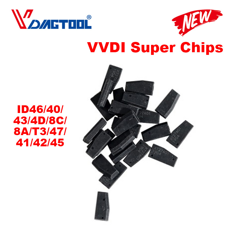 Xhorse VVDI Super Chip Transponder For ID46/40/43/4D/8C/8A/T3/47/41/42/45/ID46 For VVDI2 VVDI Key Tool /Mini Key Tool 20pcs/lot