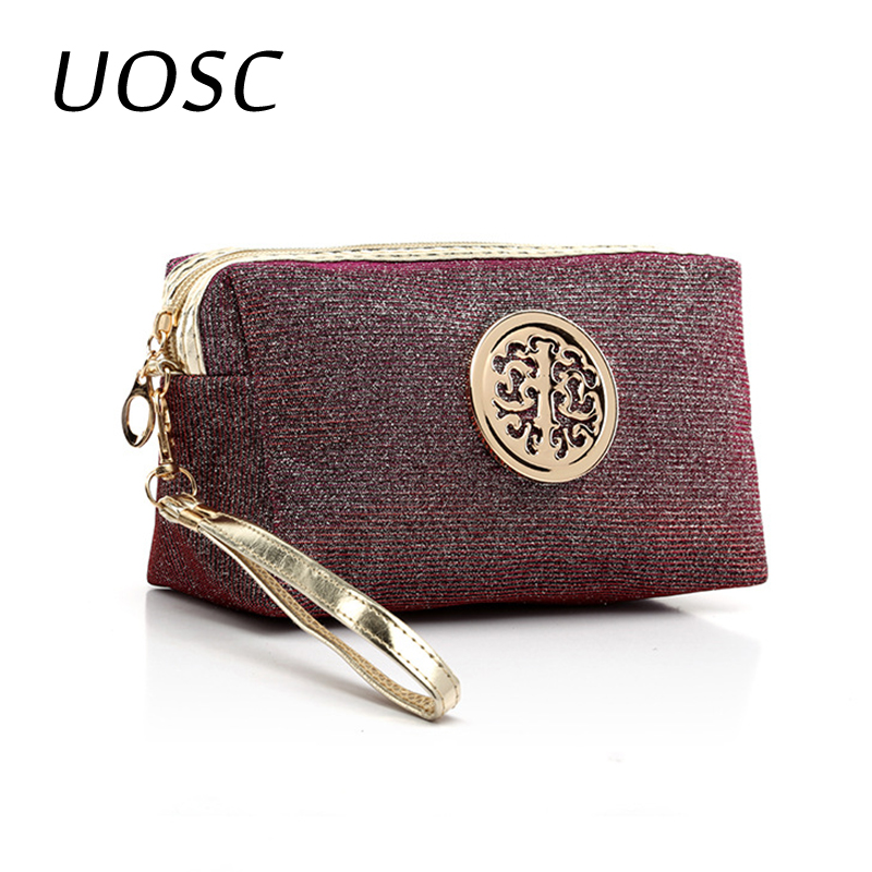UOSC Women Neceser Make Up Bag Waterproof Laser Bling Cosmetic Bags Pouch Wash Toiletry Bag Travel Organizer Case Mujer Bolsas