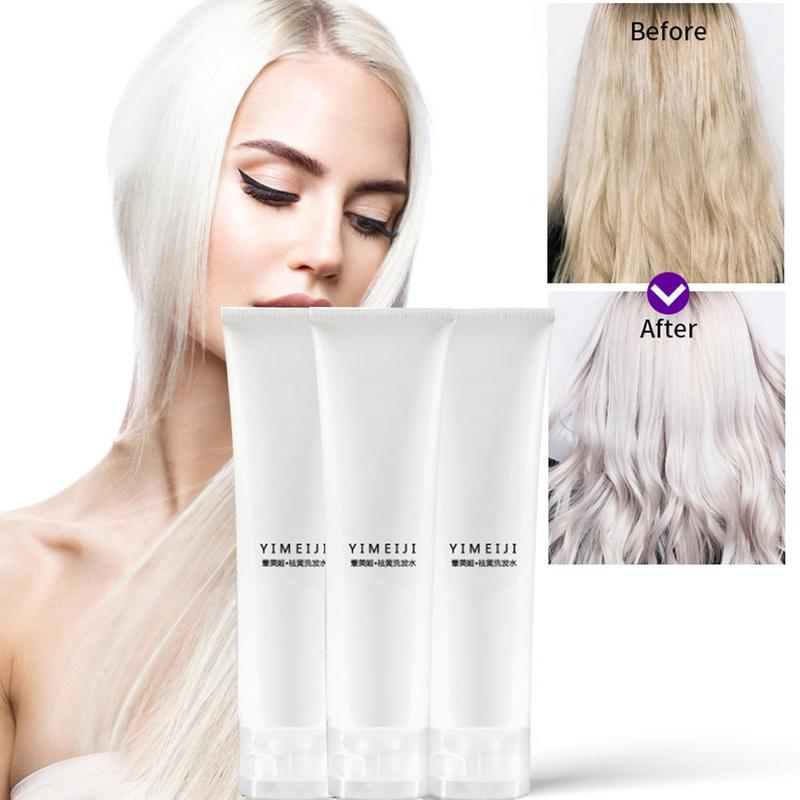 Professional Blonde Bleached Highlighted Hair Shampoo Revitalize Effective Long Lasting Shampoo 100ml For Blonde Hair Shampoos image