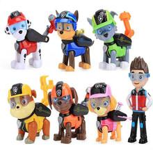 Paw Patrol 7 sztuk zestaw zabawki pies może deformacji zabawki kapitan Ryder Pow Patrol Psi Patrol Action Figures zabawki dla dzieci prezenty tanie tanio 3 lat Inne Diecast paw-1 1 64 Samolot