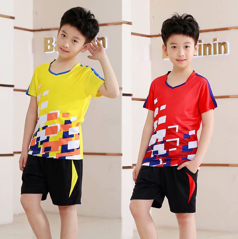 Wholesale 2018 New Style CHILDREN'S Short-sleeved Clothes Table Tennis Wear Fashion & Sports Jersey Customizable Printed Words R