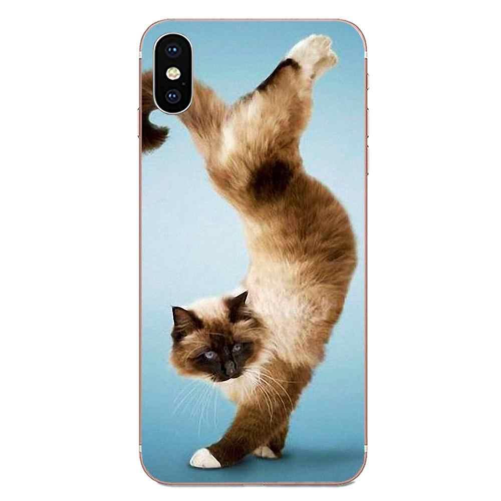 Thiết kế Phổ Biến Tập Yoga Mèo Phong Cách Nghệ Thuật In Hình Cho HTC Desire 530 626 628 630 816 820 830 Một A9 M7 m8 M9 M10 E9 U11 U12 Đời Plus