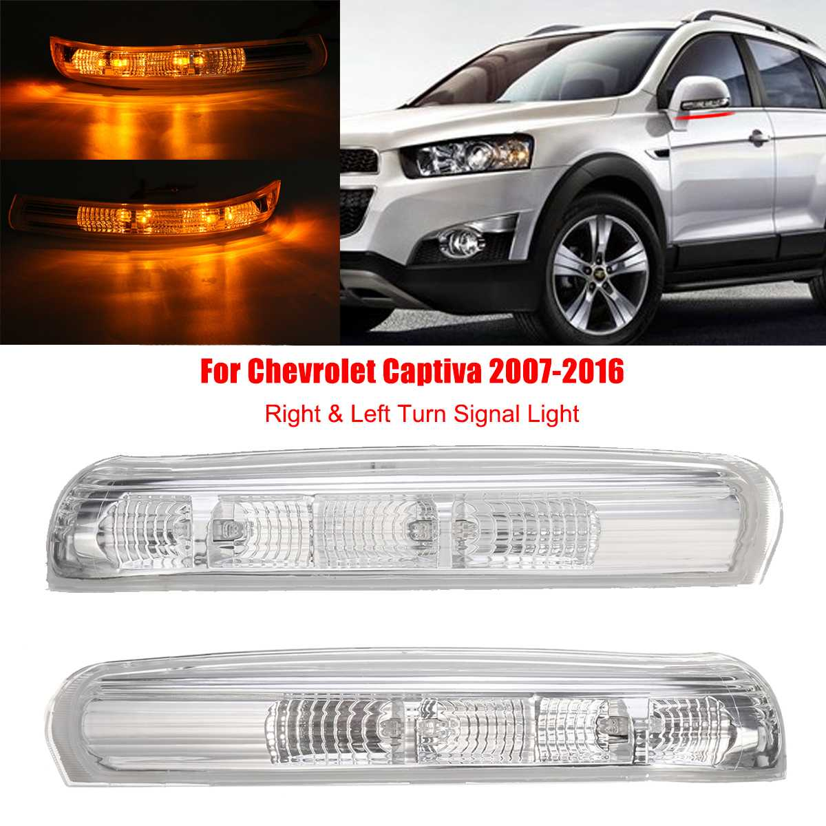 For Chevrolet Captiva Right Side Rear View Mirror Turn Signals Light 2007-2016