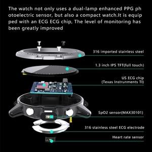 Image 4 - P8 ساعة ذكية PPG ECG كامل اللمس HD شاشة Smartwatch مع كاميرا جهاز تعقب للياقة البدنية متعددة الرياضة سوار ذكي IP68 مقاوم للماء