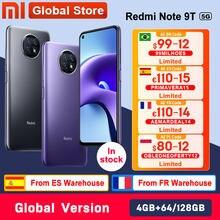 Versão global xiaomi redmi nota 9t 5g 4gb 64gb/128gb smartphone dimensão 800u nfc 5000mah 48mp câmera