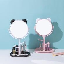 Зеркало для макияжа с подносом простой милый мультяшный Настольный