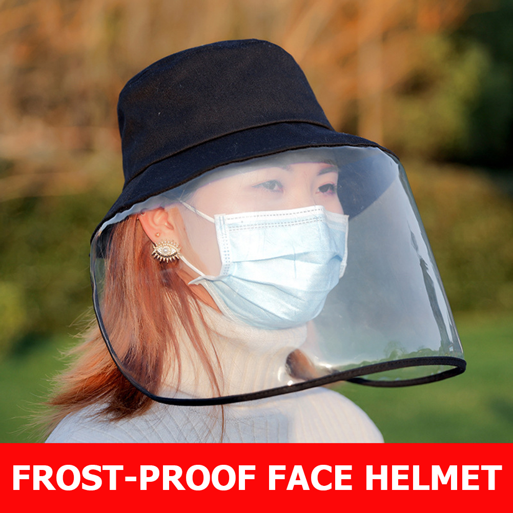 Anti-virus Anti-fog Protective Cap Mask UV Protection Fisherman Sun Hat Pregnant Woman Outdoor Safety Face Cover With KF94 Masks