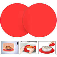 2 pack 12 Inch Silicone Microwave Mat Non-Stick Oven Mat Microwave Turntable Mat Soft Round Silicone Table Mate