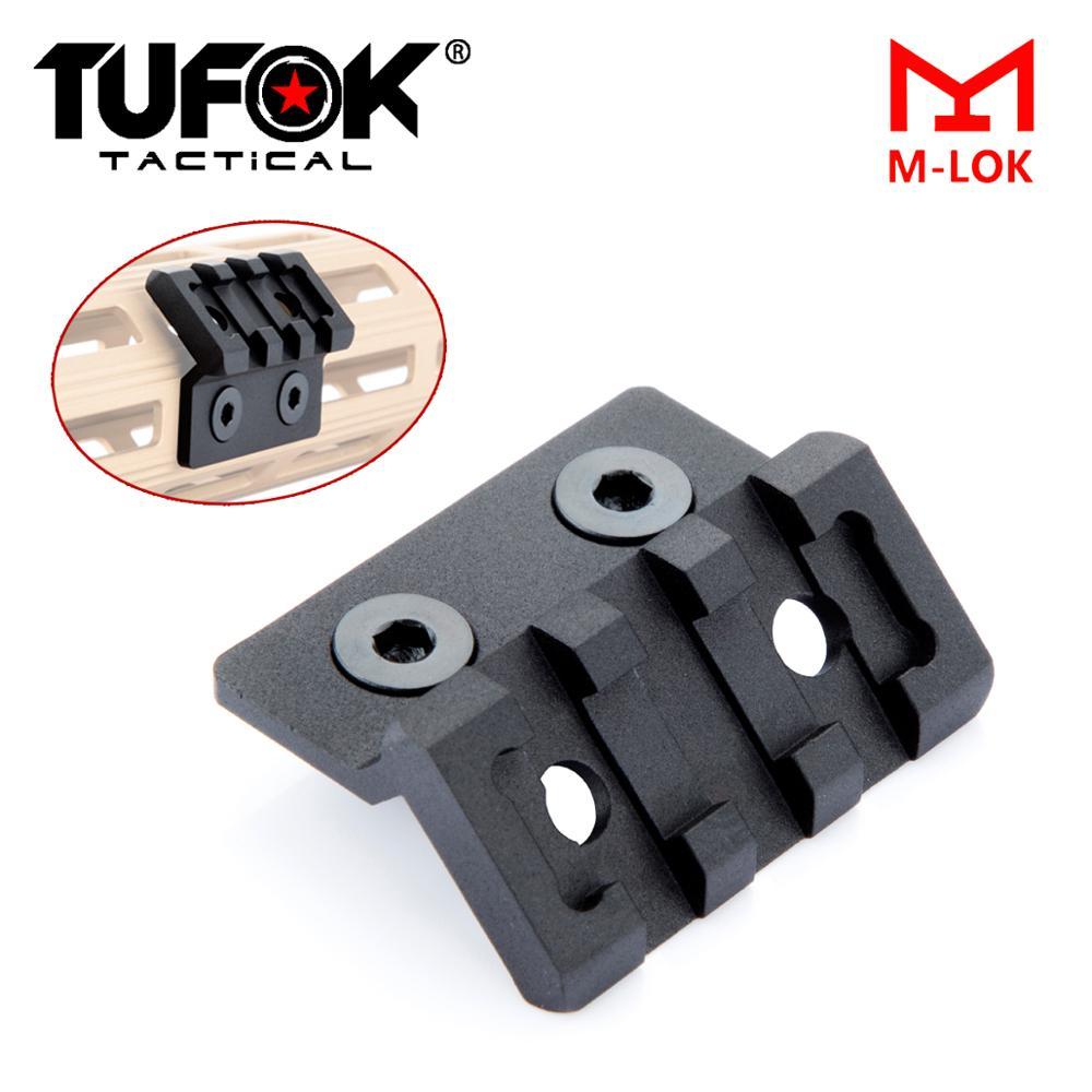 Tufok M-Lok Offset Flashlight Rail Mount For M300 M600 Scout Light MLok Optics Scope Mount Tactical Flashlight Accessories