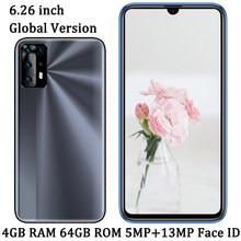 Smartphone Face ID 9X débloqué, téléphone portable, écran de 6.26 pouces, 4 go de RAM, 64 go de ROM, Android 7.0, caméra avant/arrière de 13mp