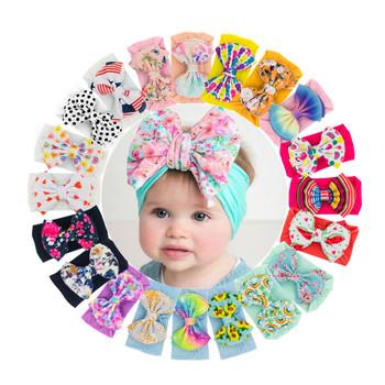Noworodek maluch dziewczynka kwiatowe z kokardą pałąk nakrycia głowy elastyczna opaska do włosów akcesoria niemowlę dziewczynki Turban opaska na głowę dla dziecka tanie i dobre opinie ISHOWTIENDA CN (pochodzenie) POLIESTER Unisex W wieku 0-6m 7-12m 13-24m 25-36m Cotton Blend Floral baby Kids Headwear Opaski na głowę