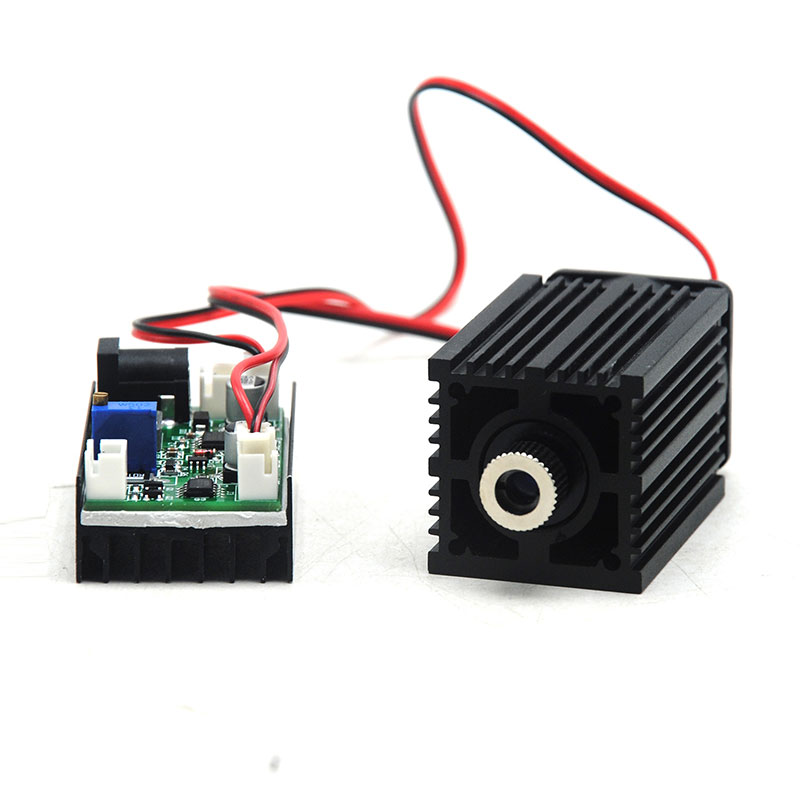 Focusable 850nm 1W 1000mw IR Infrared Diode Laser Adjusted Dot Module Long time working 3350mm 12V w/ Fan Cooling TTL Modulation