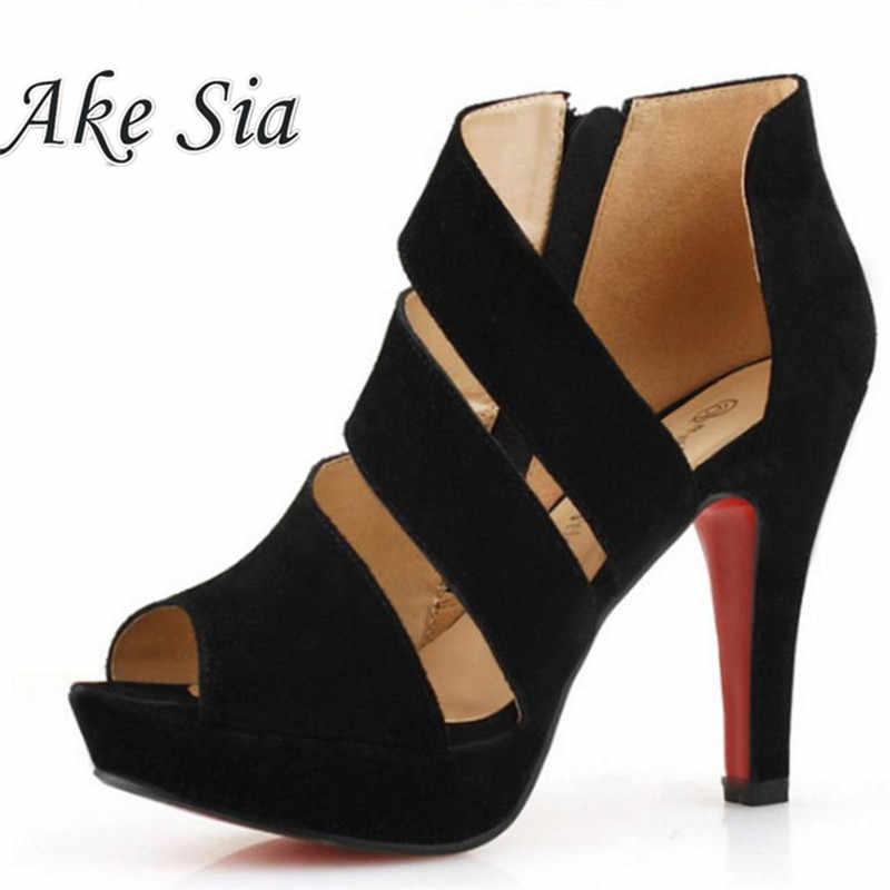 HOT 2019 Sandalia Feminina Estate Gladiator tacchi Alti Peep Toe sandali casual scarpe donna sandali della piattaforma Impermeabile F245