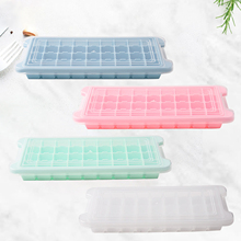 36-hole silicone ice cream mold with lid, foldable ice tray, silicone ice cube sharpener, household kitchen tool