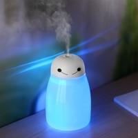 Mini umidificador de ar ultrassônico  difusor de aroma de ar óleo essencial aromaterapia produtor de vapor com luz led