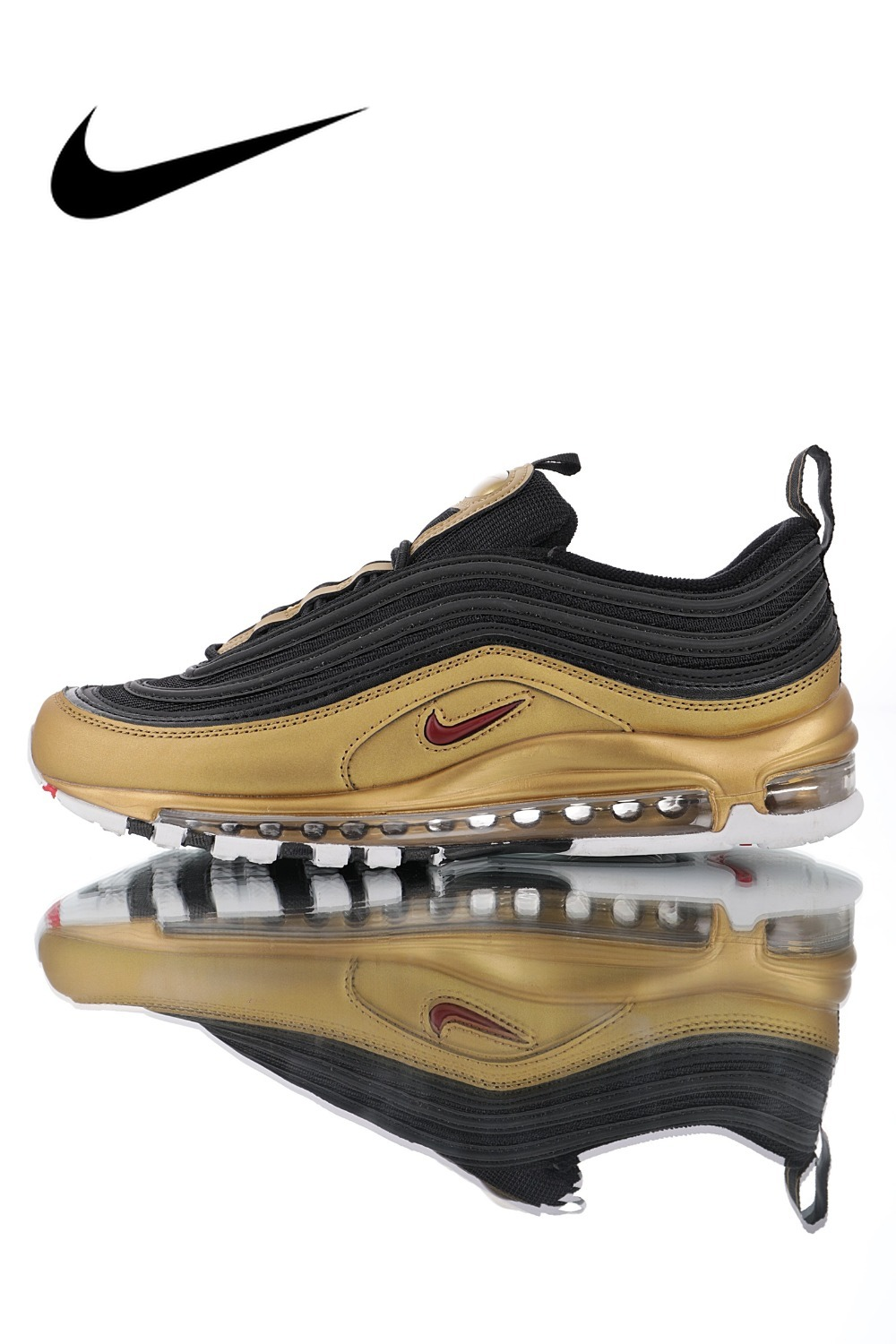 Original Authentic Nike Air Max 97 QS 2017 RELEASE Men's Running Shoes Fashion Outdoor Sports Designer Sports Shoes AT5458-002
