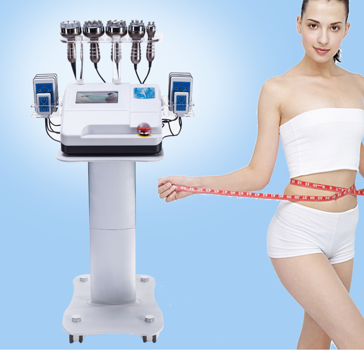 Newest 6 In 1 RF Ultrasonic Cavitation Vacuum Slimming Machine  40k Lipo Laser For Weight Loss And Body Slimming