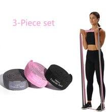 Spor uzun direnç bantları 3 parçalı Set Yoga çekme yukarı ganimet kalça egzersiz döngü elastik bantlar spor eğitimi egzersiz ekipmanları