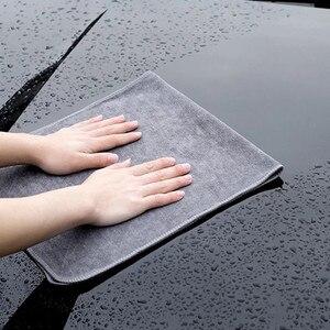 Image 2 - منشفة غسيل السيارة من الألياف الدقيقة ، فائقة النعومة ، 400GSM ، قطعة قماش للتنظيف والتجفيف ، ملحق السيارة