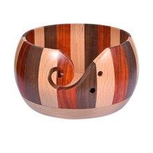 Деревянная миска из пряжи премиум класса Круглый держатель для