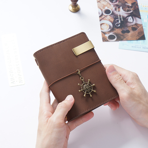 Image 4 - 50 Pieces / Lot Passport 130x105mm Genuine Leather Notebook Handmade Travel Journal With Card Holder Diary Sketchbook Planner