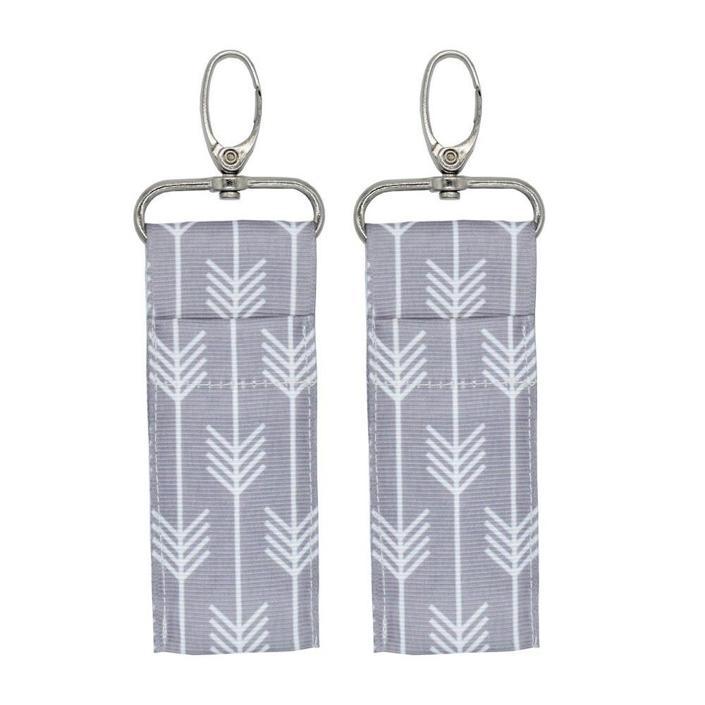 2pcs Lipstick Holder Cross Ripple Big Arrow Colorful Arrow Patterns Chapstick Keys Lip Balm Rings Pouch Keychain Bags