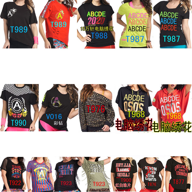Men And Women Sport Tops T-shirt T795 876 877 900 922 923 959 968 976 987 990 988 989  V016