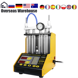 Autool CT150 Auto Brandstof Injector Tester Reinigingsmachine Injector Cleaner Test Ultrasone Benzine Auto Tool 110V 220V 4 cilinders