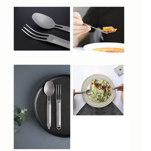 Image 4 - Newest Youpin NexTool Fork Spoon Outdoor Pure Titanium Portable Tableware 2 in 1 Detachable Outdoor Sports Healthy Convenient