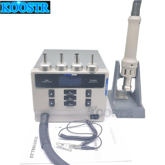 ATTEN 1000W Rework Station Intelligent LCD Screen Display Auto  Sleep Hot Air Gun for PCB Welding Repair St 862D