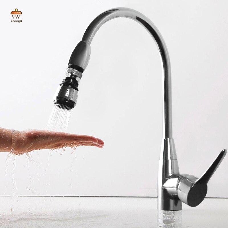 ZhangJi, вращающийся на 360 ° водопроводный разъем, двойной режим, кухонный аэратор, диффузор, барботер, фильтр, насадка для душа|faucet aerator|360 degree water bubblerwater bubbler | АлиЭкспресс