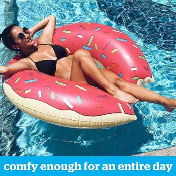 Lato dorosły dzieciak nadmuchiwany pączek nadmuchiwane koło basen nadmuchiwany materac basen zagęszczony pcv lato pływające obręcz do siedzenia zabawki tanie i dobre opinie CAMPSLE WOMEN donut swimming ring