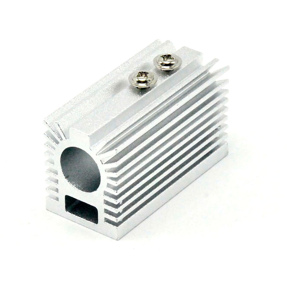 Silver Heat Sink Heatsink Holder For Dia 12mm Blue/Green/Red/IR Laser Modules Cooling