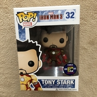 2013 SDCC Exclusive Official Funko pop Rare Marvel: Iron Man 3 Tony Stark Vinyl Action Figure Collectible Model Toy In Box