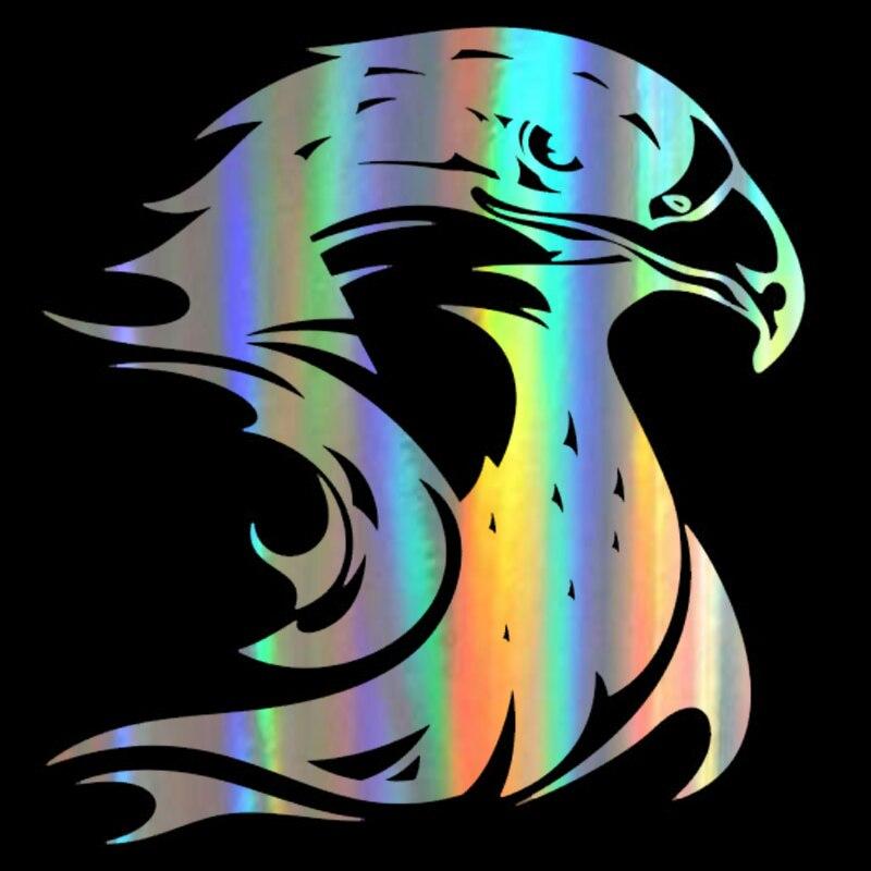 Dawasaru fogo chama eagle hawk cabeça personalizado adesivos de carro decalques à prova dsuitcase água mala caminhão auto decoração pvc, 14cm * 13cm