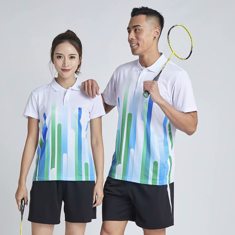 2019 New Products Short Sleeve Fold-down Collar Table Tennis Wear Quick-Dry Running Clothing Men And Women Adult Game Training J