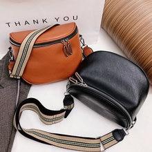 2021 Fashion Women Crossbody Bag PU Leather Semicircle Saddle Bags Soft Leather Shoulder Bags For Ladies Handbags Designer Sac
