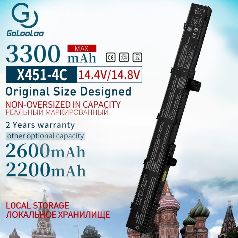 Golooloo 14.8v Laptop Battery A41N1308 A31N1319 0B110-00250100 X551M For Asus X451 X551 X451C X451CA X551C X551CA Series