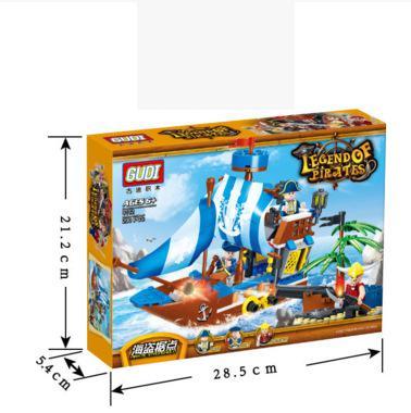 9112 200 pieces fortaleza recompensa Navio Pirata brinquedo tijolos de bloco de construção
