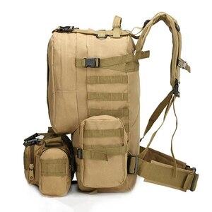 Image 5 - 55L Molle العسكرية على ظهره الجيش المجال بقاء كامو حقيبة سفر متعددة الوظائف مزدوجة الكتف حقيبة ظهر بسعة كبيرة